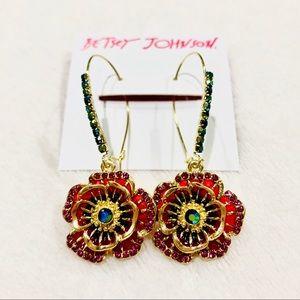 Betsey Johnson Flower Statement Earrings
